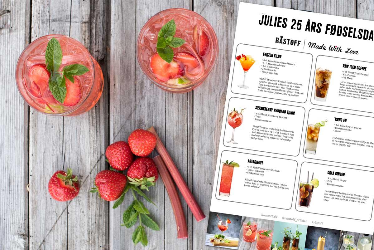 Lav dit eget drinkskort med Råstoff drinks