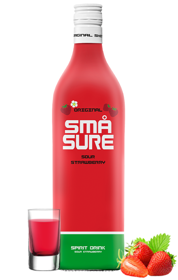 SMÅ Sure Sour Strawberry shot