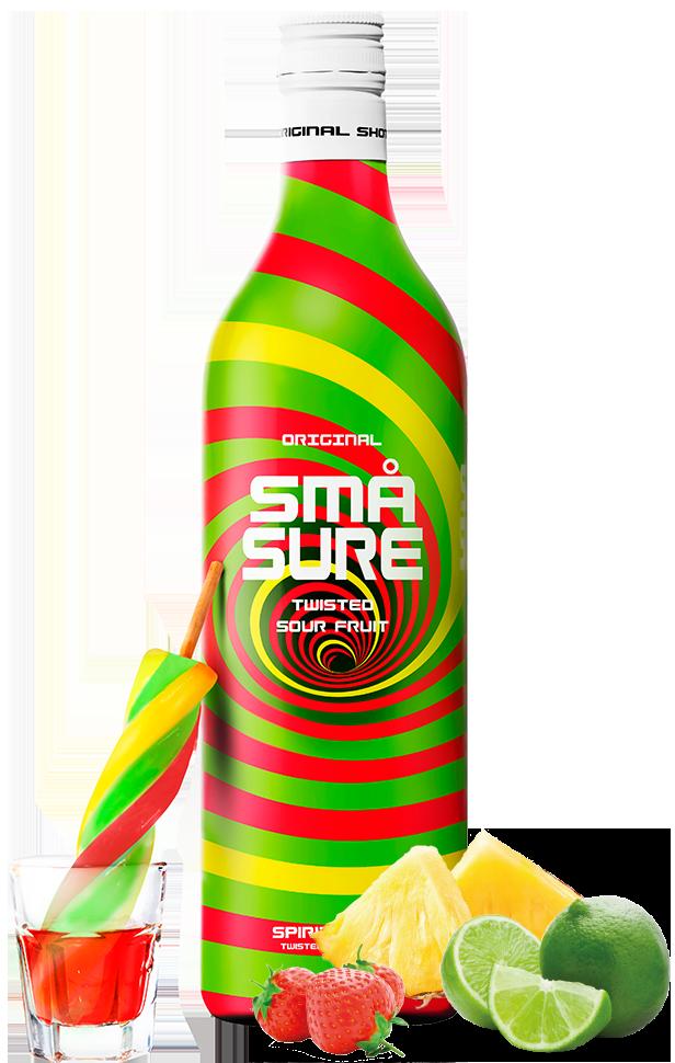 SMÅ Sure Sour Twisted fruit shot